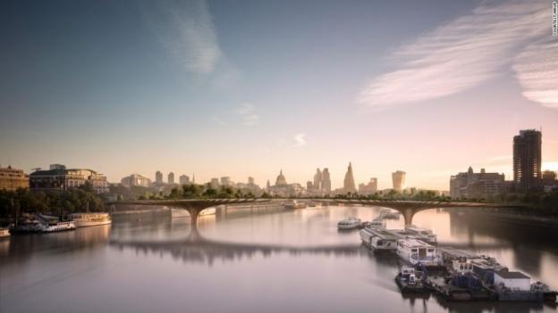 Londres tendr un puente jard n sobre el t mesis enterateonline - Jardines puente cultural ...