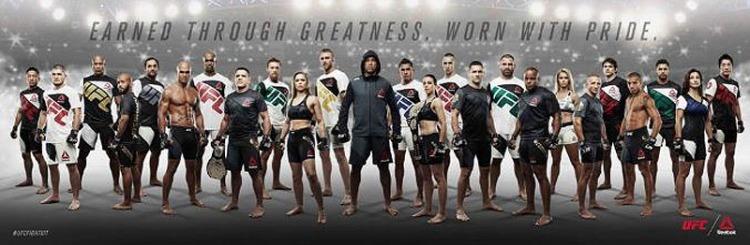UFC y Reebok. / Foto: Sitio oficial.