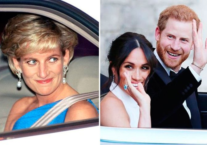 Meghan Markle honró a la princesa Diana con su segundo vestido de novia