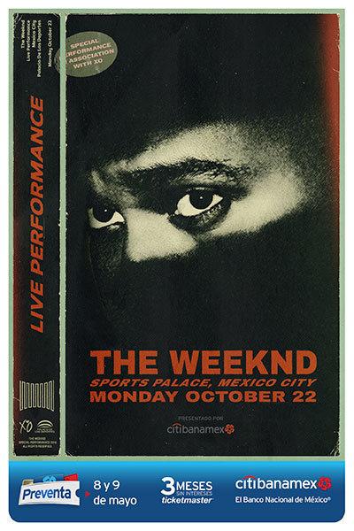 Póster del concierto de The Weeknd en México. / Foto: OCESA.