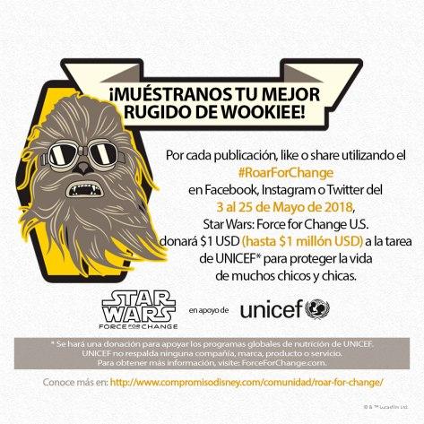 Invitación para los fans de Chewbacca. / Foto: Disney Pictures.